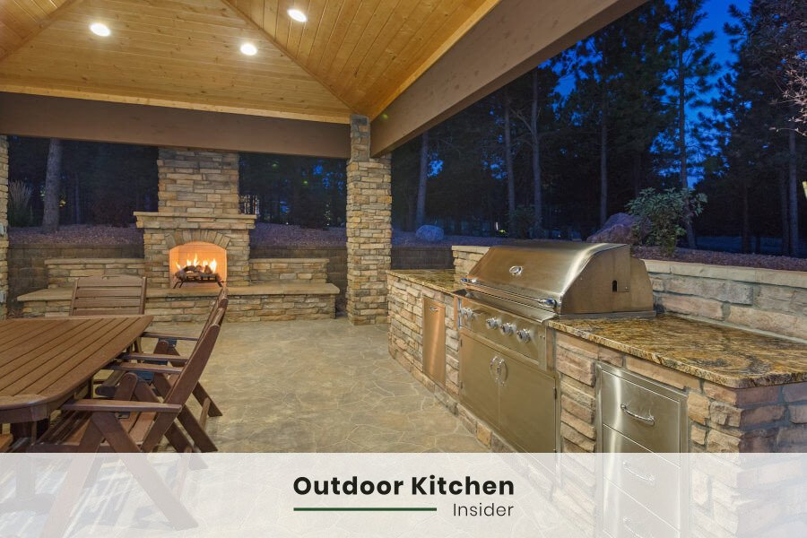 how to plan outdoor kitchen dry zone