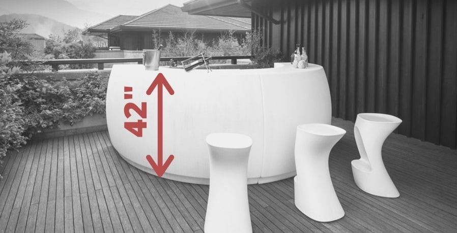 What is hight for an outdoor kitchen bar counter
