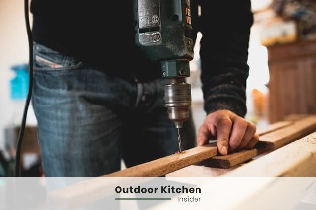 can you frame outdoor kitchen with wood