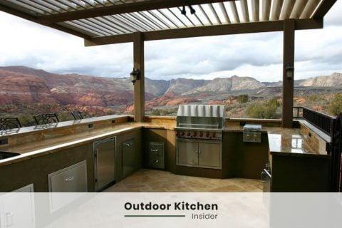 outdoor kitchen ideas u-shape large