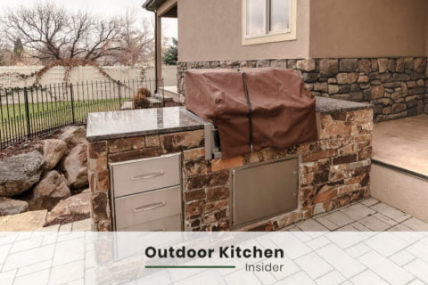 stone outdoor kitchen ideas an island small