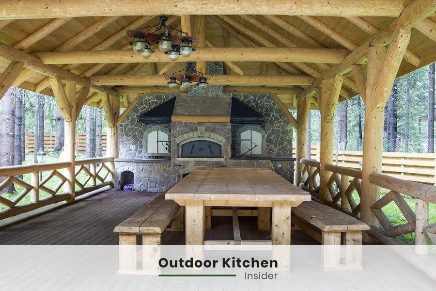 gazebo outdoor kitchen covering