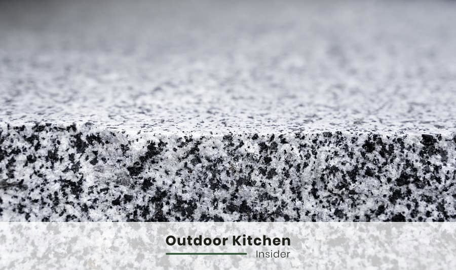 granite outdoor kitchen countertop