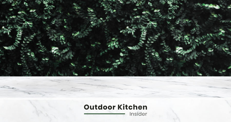 marble is not a good choice for an outdoor kitchen countertop