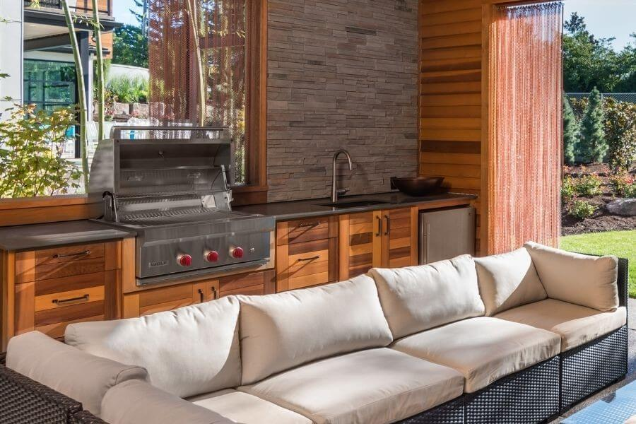 outdoor kitchen wood basics