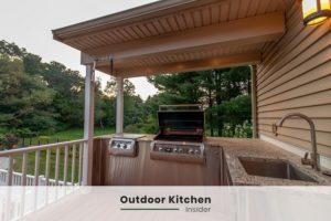 small outdoor kitchen ideas under roof