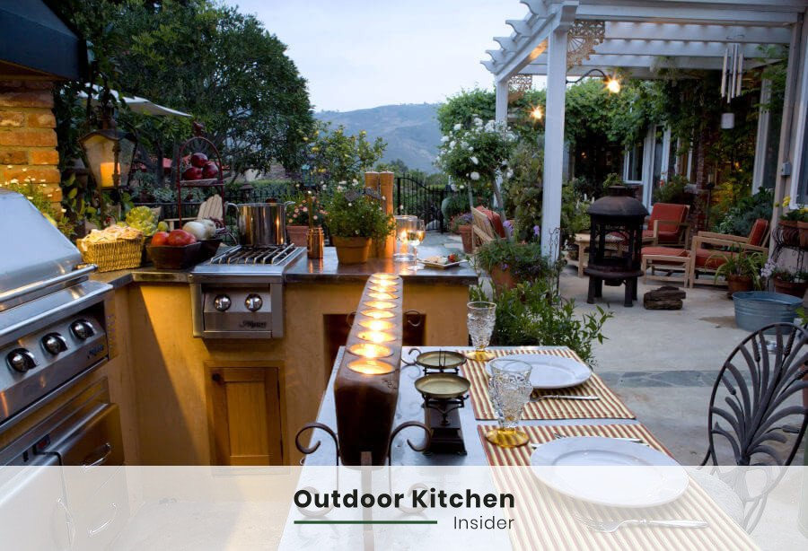 how to plan an outdoor kitchen serve zone