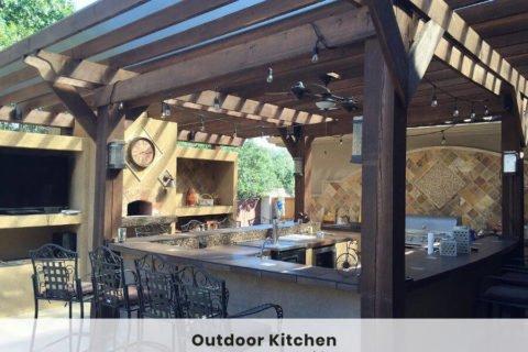 outdoor kitchen ideas bar pergola