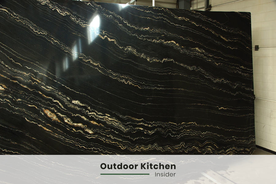 quarzite is an excellent choise for an outdoor kitchen countertop material