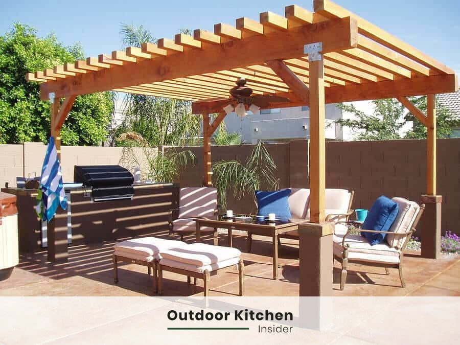 simple outdoor kitchen layout is cheaper and faster to build