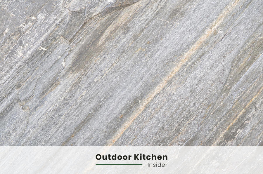 slate for an outdoor kitchen countertop