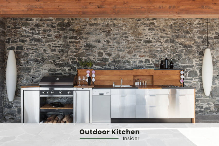 how to layout an outdoor kitchen