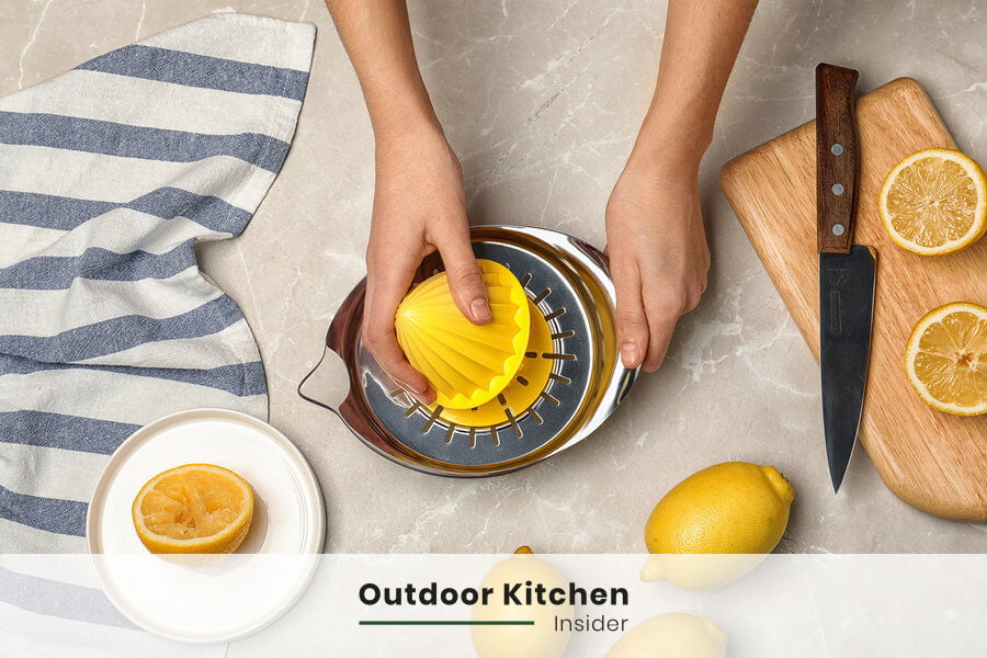 lemon juice to choose a perfect slab for an outdoor kitchen countertop