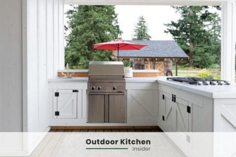 OUTDOOR KITCHEN IDEAS L-SHAPED PATIO