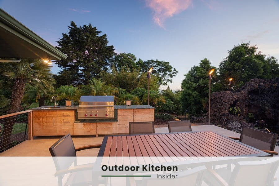 can you frame an outdoor kitchen with wood