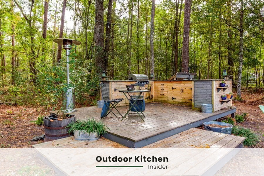 can you frame an outdoor kitchen with wood? [2 best wood types]