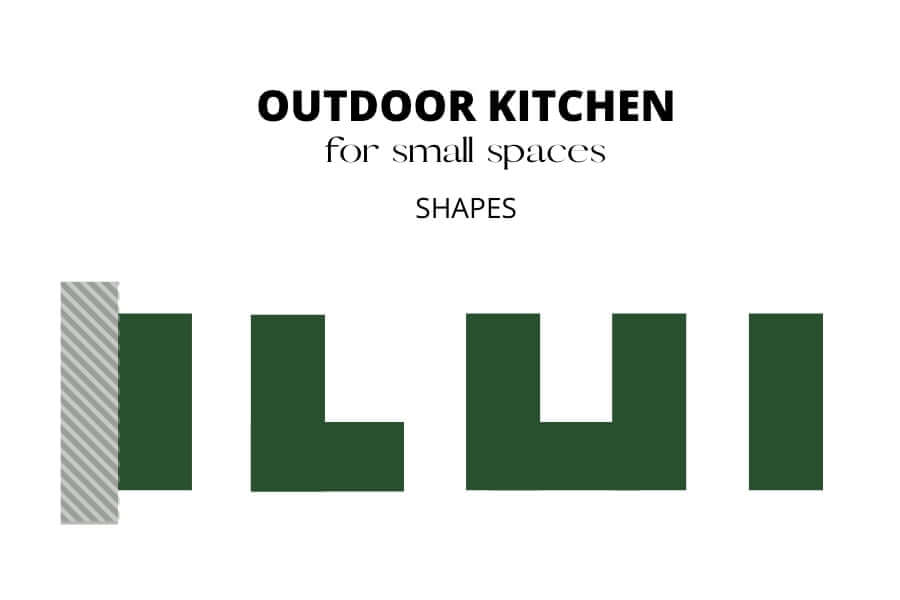 OUTDOOR KITCHEN FOR SMALL SPACES SHAPES