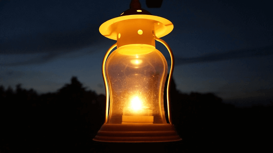 classic outdoor lantern for an outdoor kitchen