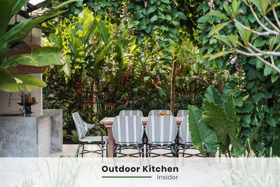 finishes for modern outdoor kitchen