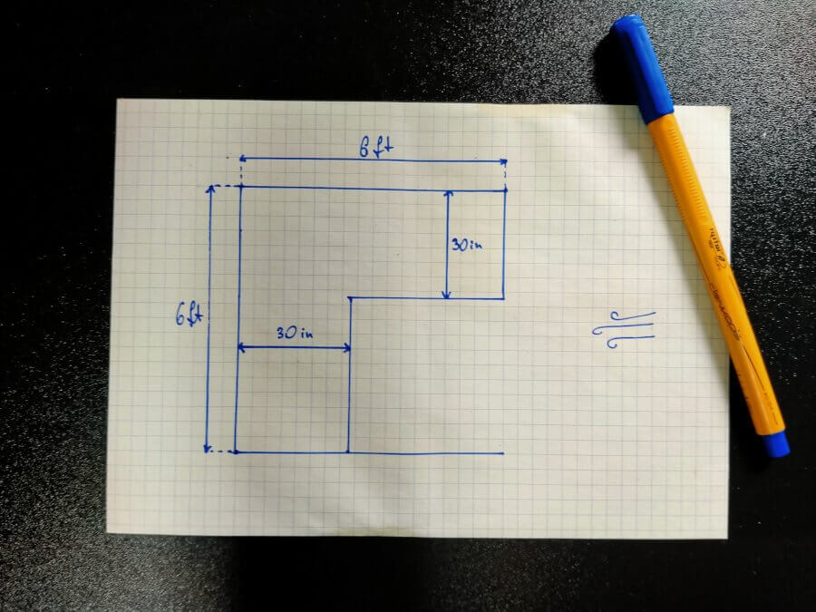 small space outdoor kitchen plan