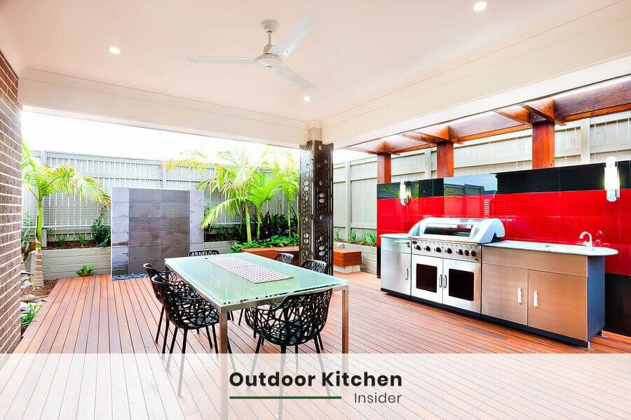 Can you put an outdoor kitchen on a deck?  How to minimize the weight of an outdoor kitchen?