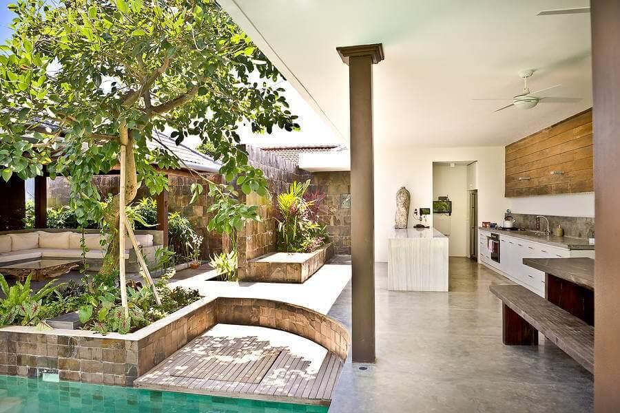 outdoor kitchen ideas: a galley