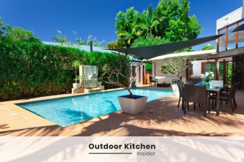 outdoor kitchen and pool ideas
