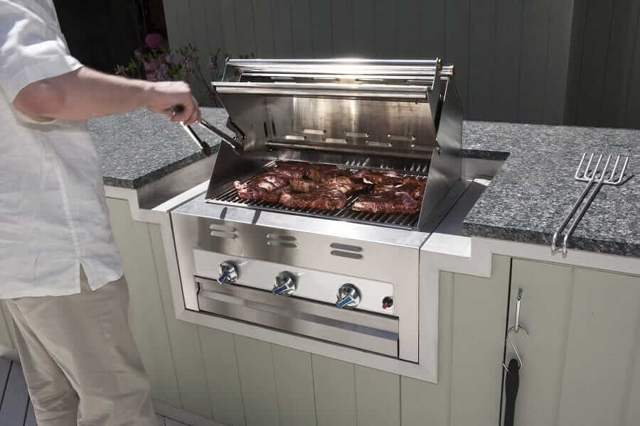 How much the appliances influence a covered outdoor kitchen cost?