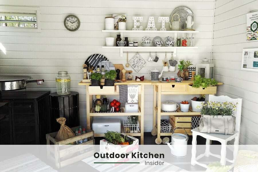 A simple outdoor kitchen is something that can change backyard into a party spot. An outdoor kitchen doesn't have to cost a lot to bring a lot of value to the family. How to create one that is not super-expensive, but creates a space for spending a time together? Tap the pic to read on my blog #outdoorkitchen