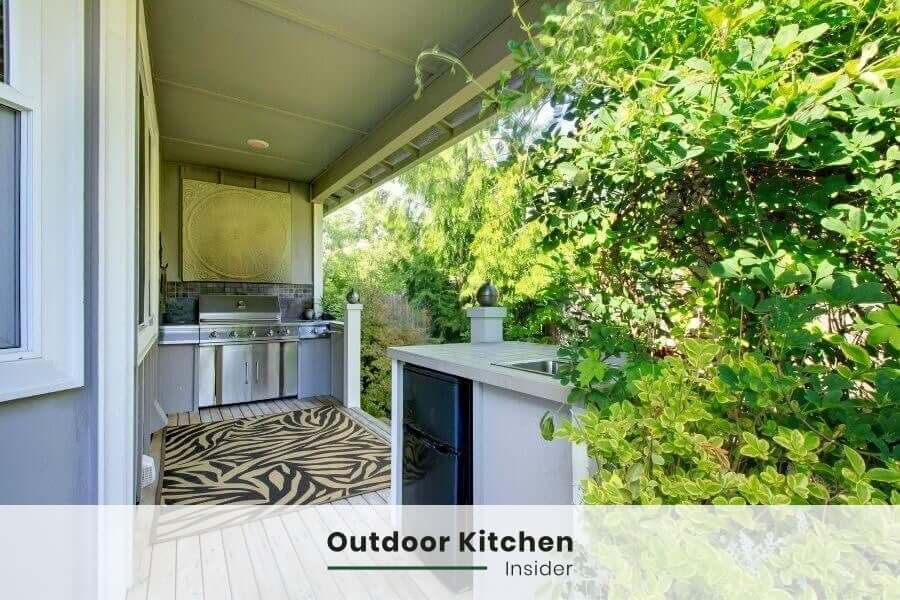 outdoor kitchen on a budget - next to house location