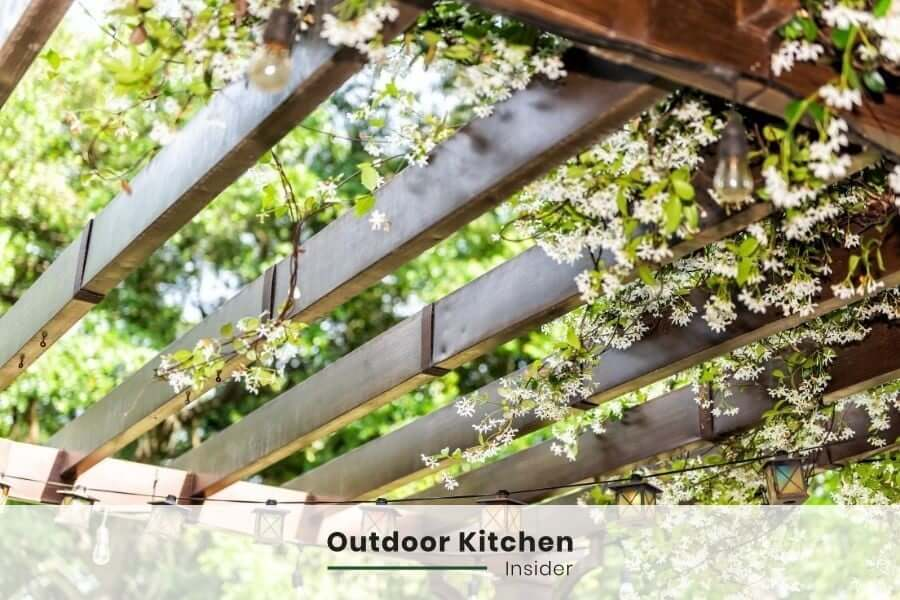 Outdoor kitchen lighting: String lights