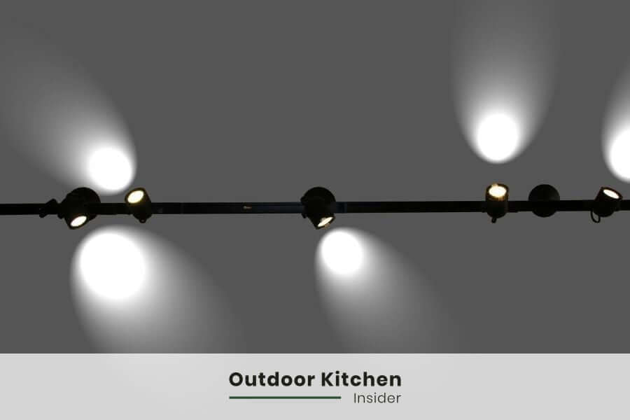 outdoor kitchen track lighting
