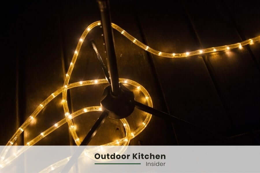 Outdoor kitchen lighting: A led strip