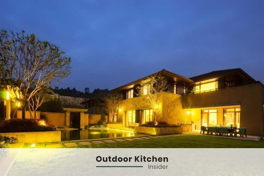 Outdoor kitchen lighting: Ambient lights
