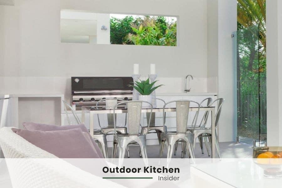 outdoor kitchen patio white