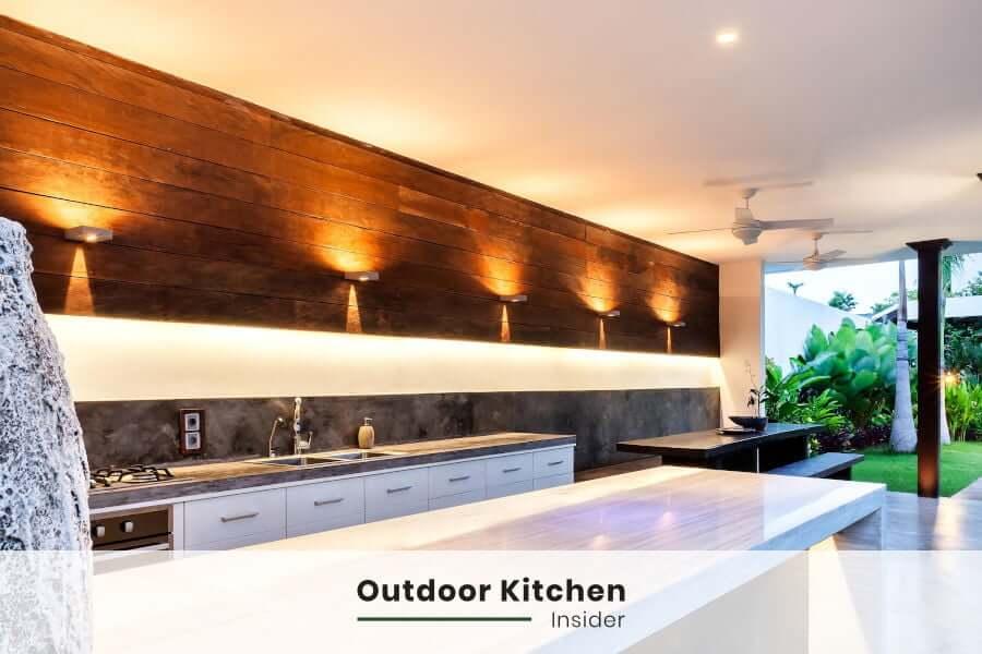 outdoor kitchen patio galley