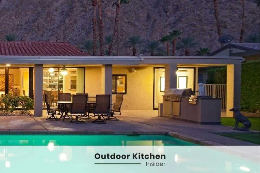How to build an outdoor kitchen on a budget? Omit sink and fridge