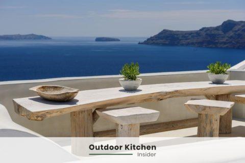 outdoor kitchen ideas rustic sitting area