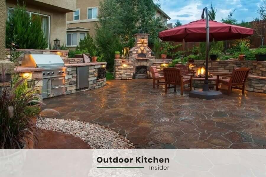 outdoor kitchen stone patio ideas