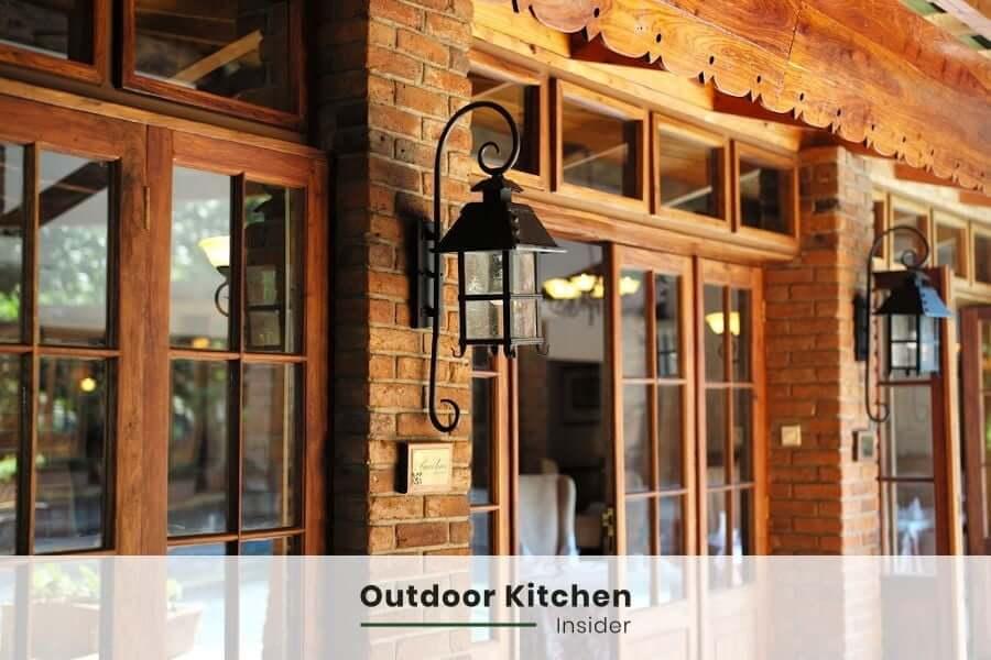outdoor kitchen traditional scones