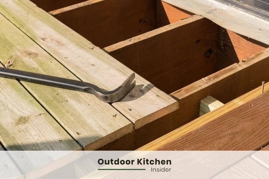 outdoor kitchen on a deck max load
