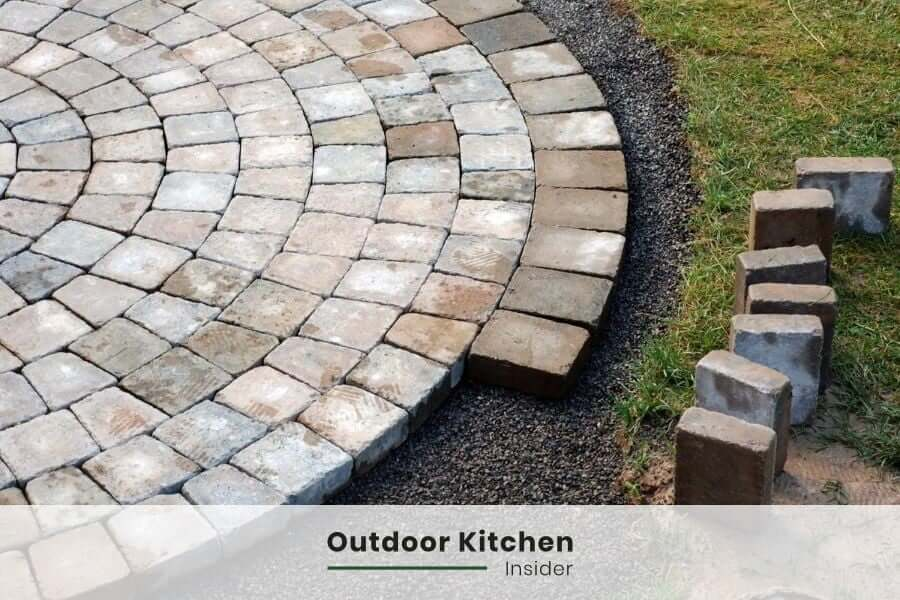 outdoor kitchen ideas rustic pavers