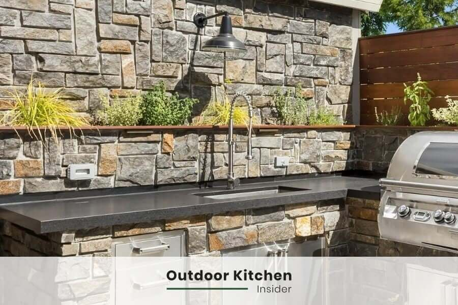 Outdoor sink ideas: rustic outdoor kitchen sink