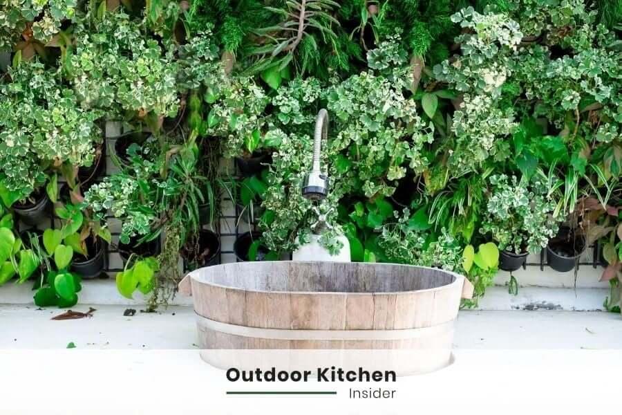 outdoor kitchen ideas sink placement