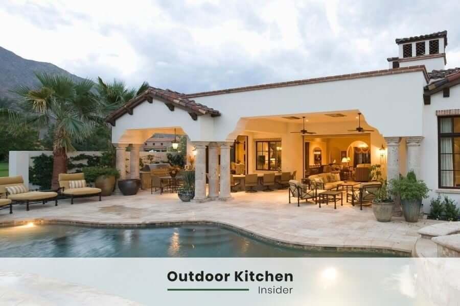outdoor kitchen patio lighting options