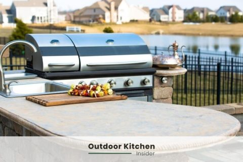 OUTDOOR KITCHEN IDEAS L-SHAPED