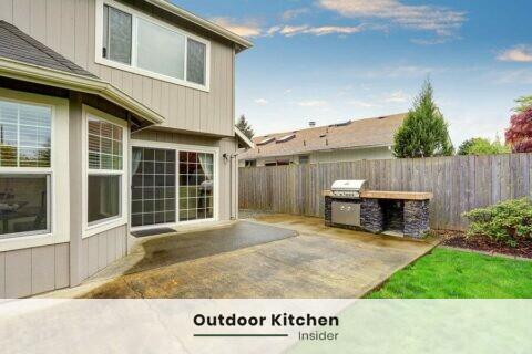 Outdoor kitchen patio: an island