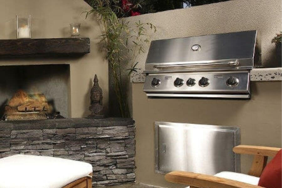 outdoor grill station stainless steel