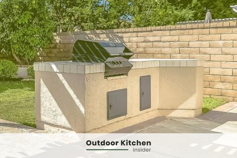 outdoor grill station concrete