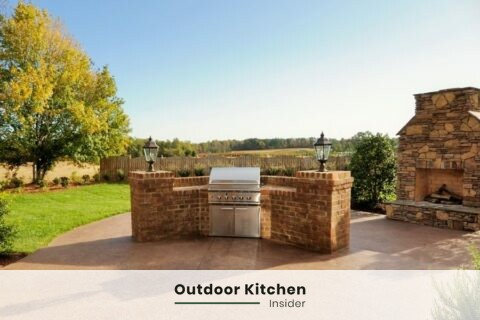 outdoor grill station brick